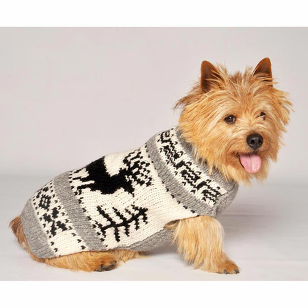 Reindeer Shawl Dog Sweater