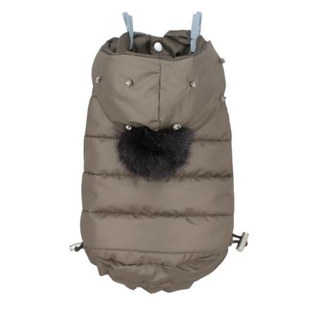 Louisdog Khaki Hoodie Dog Coat
