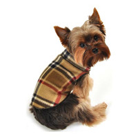 Camel Plaid Blanket Fleece Pullover
