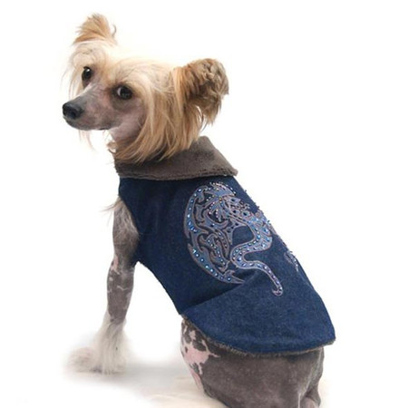 Oscar Newman Heart of a Dragon Denim Coat