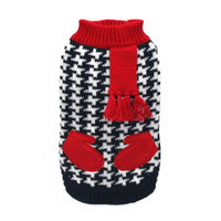 Houndstooth Scarf and Mittens Dog Sweater