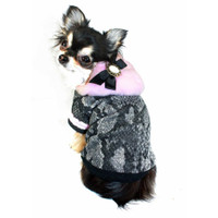 Pink Boa Dog Sweater