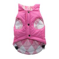Pink Argyle Reversible Puffer Vest