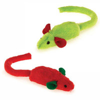 Santa's Stocking Stuffers Catnip Mice Toy Set