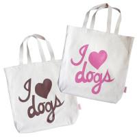 I Love Dogs Organic Tote Bag