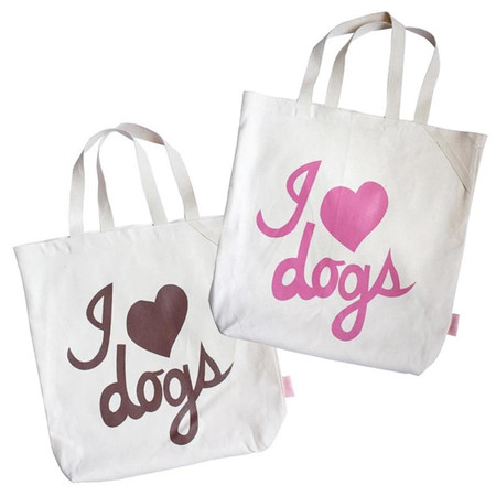 I Love Dogs Organic Tote Bag