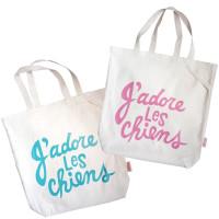 'adore Les Chiens Organic Tote Bag