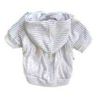 Romy & Jacob Grey Striped Velour Hoodie