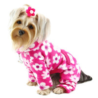 Full Blossom Turtleneck Fleece Dog Pajamas