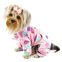 Cupcake Fleece Dog Pajamas