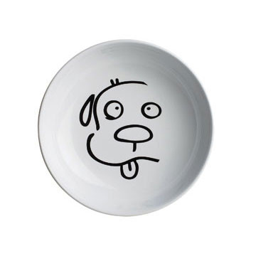 Dog Face Illustrated Bowl