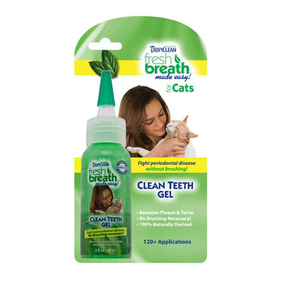 TropiClean Fresh Breath Gel for Cats