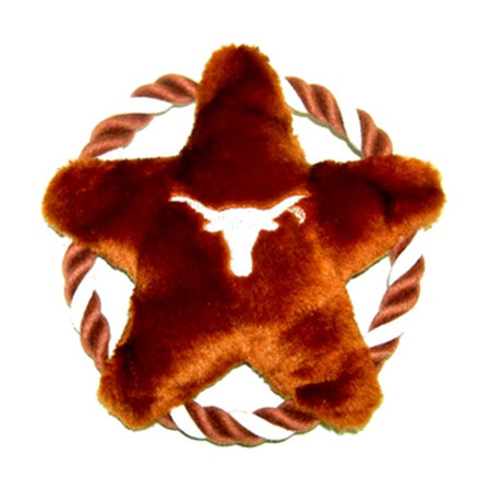 Texas Longhorns Rope Disk Dog Toy