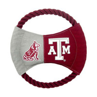 Texas A&M Aggies Rope Disc Dog Toy