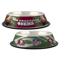 San Francisco 49ers Stainless Steel Dog Bowl