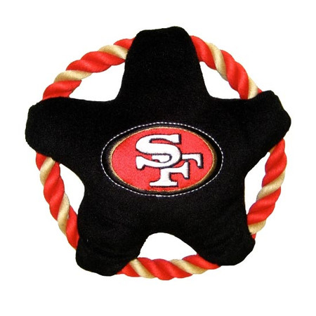 San Francisco 49ers Rope Disc Dog Toy