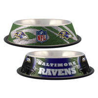 Baltimore Ravens Stainless Steel Dog Bowl