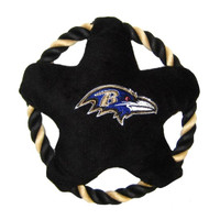 Baltimore Ravens Rope Disc Dog Toy