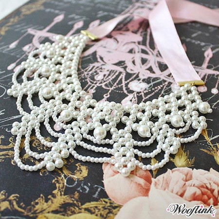 Wooflink Victoria Pearl Necklace