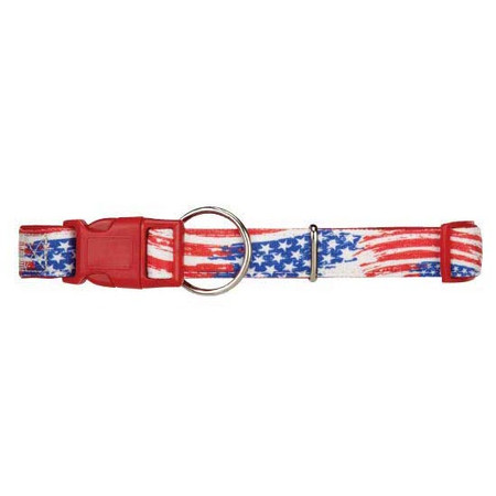 Red Flag Neoprene Dog Collar