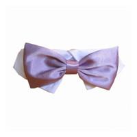 Lavender Satin Bowtie Collar