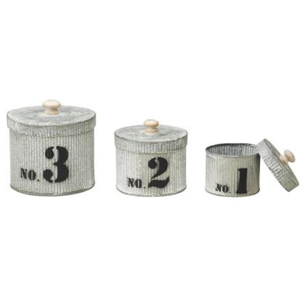 Galvanized Metal Pots Set of 3
