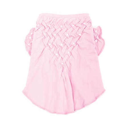 Oscar Newman Think in Pink Hand-Smocked Tee