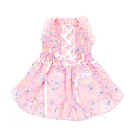 Oscar Newman Hearts & Tarts Corsette Hand-Smocked Dress