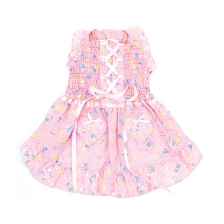 Oscar Newman Hearts & Tarts Corsette Hand-Smocked Dress