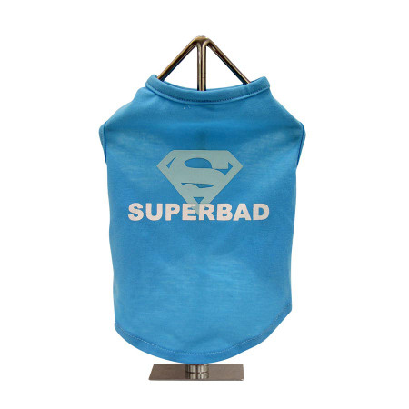 Superbad Slogan Dog Tank