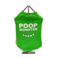 Poop Monster Slogan Dog Tank