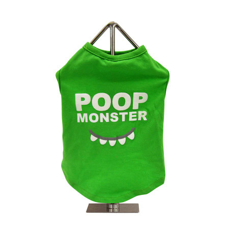 Poop Monster Slogan Dog Tank