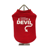 Little Devil Slogan Dog Tank