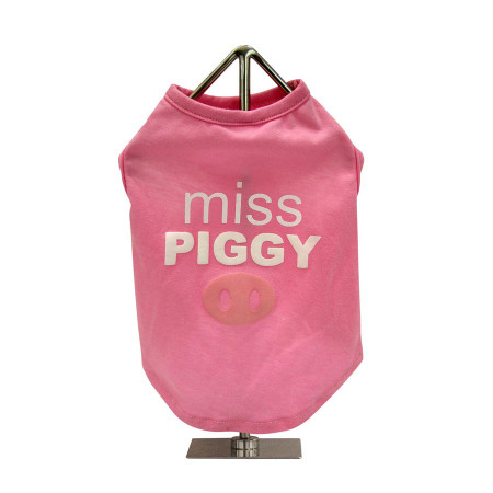Miss Piggy Slogan Dog Tank