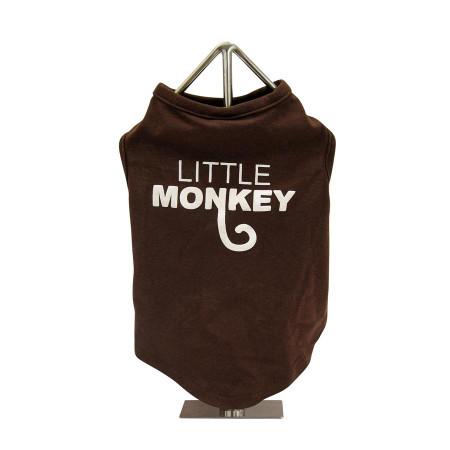 Little Monkey Slogan Dog Tank
