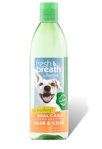 Tropiclean Fresh Breath Oral Care Water Additive Plus Skin & Coat