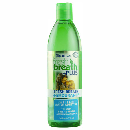 Tropiclean Fresh Breath Oral Care Water Additive Plus Endurance