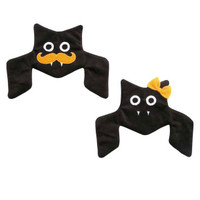 Houndstooth Crinkle Bat Dog Toys