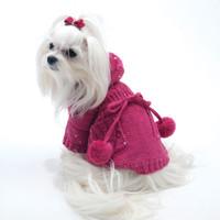 Oscar Newman Ravishing Raspberry Knitted Hoodie