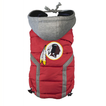 Washington Redskins Dog Puffer Vest