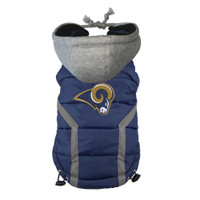 St. Louis Rams Dog Puffer Vest
