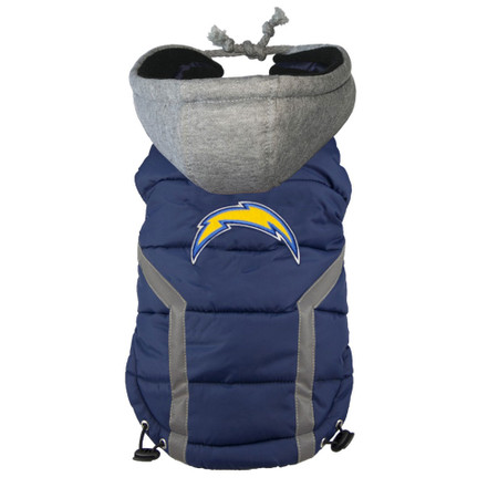 San Diego Chargers Dog Puffer Vest