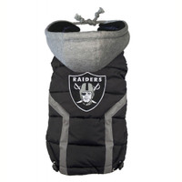 Oakland Raiders Dog Puffer Vest