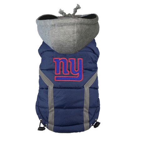 New York Giants Dog Puffer Vest