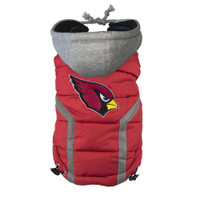 Arizona Cardinals Dog Puffer Vest
