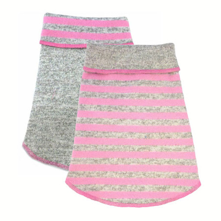 Reversible Pink Striped Pullover