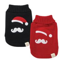 Santa Stache Dog Sweater