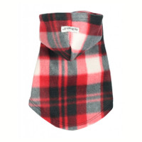 Red Plaid Polar Fleece Hoodie