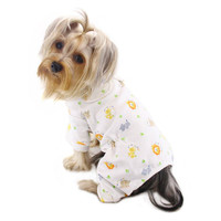 Yellow Zoo Animal Pajamas