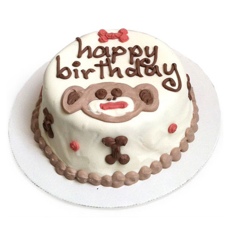 Sock Monkey Personalized Organic Dog Cakes